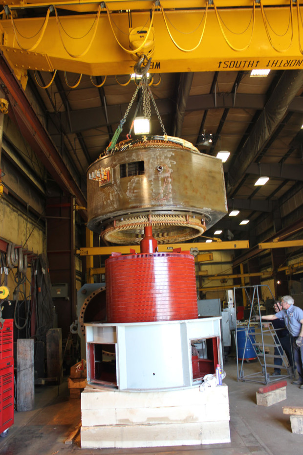 Assembly of a 1250HP Westinghouse Motor, Nuclear (cold)