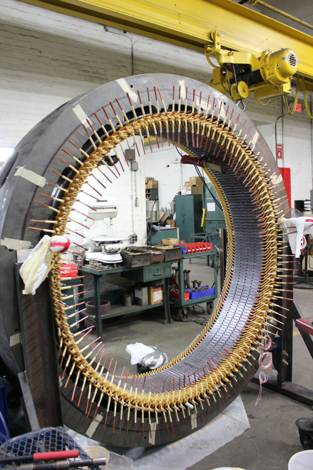 Form Coil Prior to Connection of 1250HP Westinghouse Stator, Hydro Power