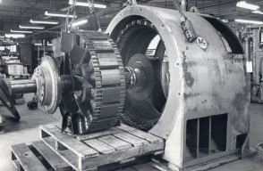 Installing Synchronous Motor Rotor