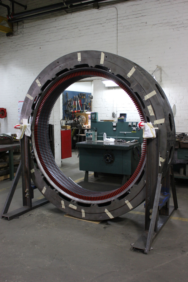 Complete restacking of hydro generator core laminations