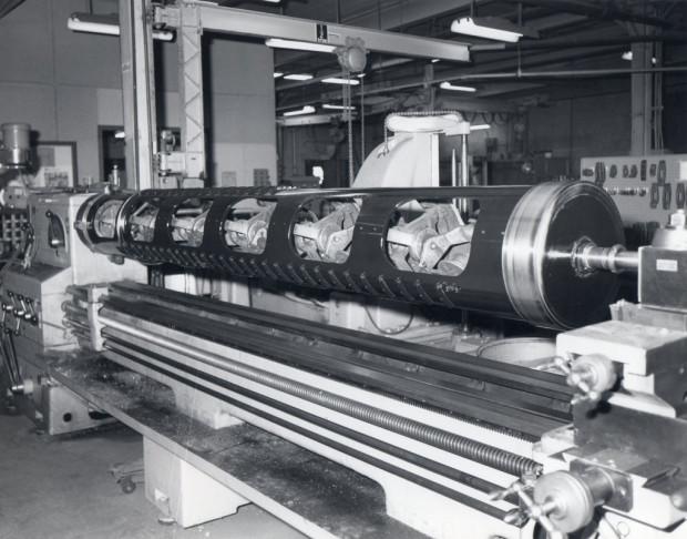 Repairing Bearing Journals on a Wire Strander Machine