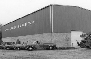 Our Field Service Fleet in Front of Our 10,000sqft High Bay Building – Early 1980's