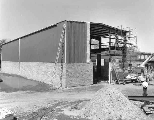 Our Co-Founder, Frank Smelewicz Overseeing Construction in the Early 1980's